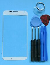 White Genuine Motorola Moto X 1st Front Outer Screen Glass Lens/Digitizer Cover