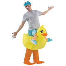 Yellow Duck Adult size Fan Inflatable Costume Party Fancy Dress Suit with Cap