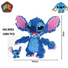 HC Anime Lilo & Stitch Monster Figure Diamond Mini DIY Building Nano Blocks Toy
