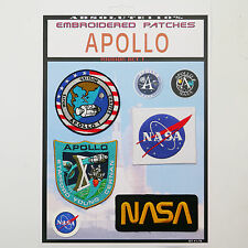 NASA APOLLO 1 & 10 Mission Crew Patch Set - Iron-On Patch Mega Set #084