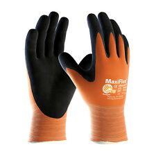 Maxiflex Ultimate Work Gloves Hi vis Orange 34-874 3 PAIRS Size MED