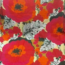 Cutter Fabric Cotton Bold Poppy Floral Pink 2 Yds Flaws Quilt Pillows