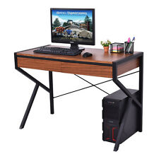 Wood Top Computer Desk PC Laptop Table Study Workstation Home Office Furniture