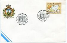 1992-05-22 San Marino World columbian stamp expo Chicago ANNULLO SPECIALE Cover