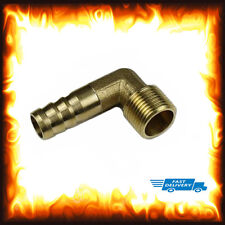 1/2 BSP to 8mm Brass 90 Degree Thread Male Elbow Barbed Hose Tail Pipe Fittings