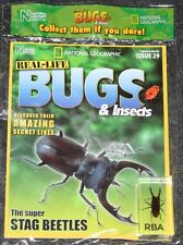 National Geographic Real Life Bugs & Insects Magazine #29 Stag Beetle