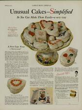 1929 GOLD MEDAL FLOUR AD / UNUSUAL CAKES  - SIMPLIFIED - FOR THE CAKE BAKERS....