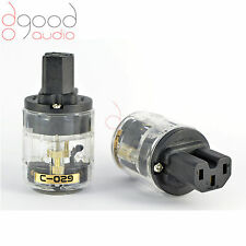 Audio Grade Mains IEC Female Plug Connector Power Upgrade Model C-029 Crystal