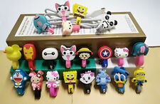 1Pcs Cute Lovely Earphone Wire USB Cable Cord Winder Wire Cable Holder Organizer
