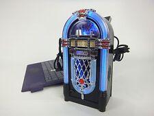 Mini Jukebox Speaker & Light/Blue/LED/USB/Oldies/Music/PC/Desk Top/Interior/New