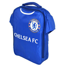 CHELSEA FC KIT SHIRT SHAPE INSULATED SCHOOL LUNCH BAG BOX PICNIC GIFT XMAS