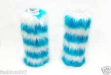 lady's  winter Fluffy Fuzzy Faux Fur /Dance Leg Warmers Muffs Boot Covers 40cm