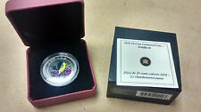 * 2010 Canada Canadian 25 Cent Coloured Goldfinch Coin w/ COA in Box, FREE SHIP!