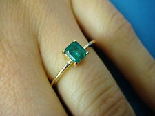 18K GOLD VINTAGE EMERALD SOLITAIRE RING, 2.2 GRAMS, SIZE 6, 0.50 CT T.W. EMERALD
