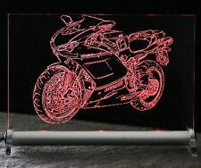 Ducati Tricolore Superbike Gravur auf LED-Schild  1098S