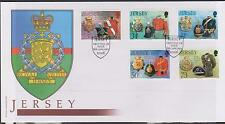 GB JERSEY 2006 Royal Militia of Jersey Series 2 SG 1253/57 FDC MILITARY UNIFORMS