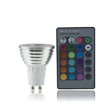 GU10 4W RGB LED Light Bulb Color Change Lamp with Remote Control 100-240V New ft