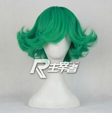 Anime Manga ONE PUNCH MAN Tornado of horror Green Cosplay Custume Wig