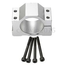 52mm Aluminum Alloy Motor Mount Fixture Clamp Holder w/4 Screws For CNC Spindle