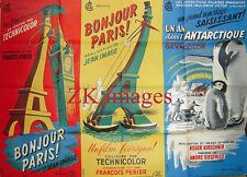JEAN IMAGE Tour Eiffel Big Ben P-E VICTOR Antarctique Exp. Polaire Pingouin 1953