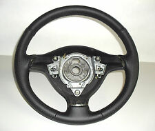 GOLF 4 STEERING WHEEL COVER specific BLACK LEATHER Made IN Italy