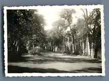 China, French Concession in Tientsin Vintage silver print. Vintage China. 中国葡萄酒
