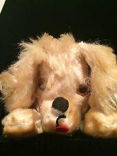 Vtg Herman Pecker Sawdust Filled Velour cocker spaniel Dog TAG silky sheen fur