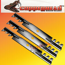 3 Fits  John Deere GY20852 Commercial Multching Mower Blades 48 Cut 7 Point Star