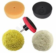 "3"" Car Buffing & Wax Polishing Pad Kit - Drill Attachment Tool with Velcro Wh..."
