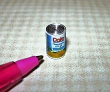 Miniature Quality Brand Canned Pineapple  Rings: DOLLHOUSE Miniatures 1/12 Scale