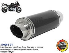 Universal Motorrad Auspuff Schalldämpfer Carbon für Kawasaki Suzuki 170261-01