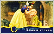 DISNEY USA 2011 SNOW WHITE KISSING THE GNOME COLLECTIBLE GIFT CARD