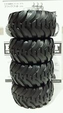 New Tamiya Blackfoot Tires Set Front & Rear 1:10 2.2 Monster Beetle Bruiser