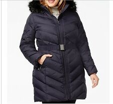 DKNY Women's Winter Black Down puffer parka hooded coat jacket plus1X 2X $300