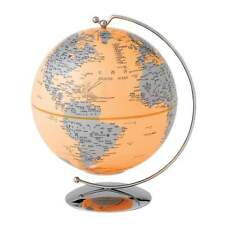 Globe Collection Orange Light-Up Mini Globe New Boxed A27305