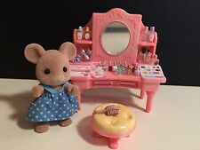 Sylvanian Families Beauty Salon Dressing Table with make up/ cosmetics, Figure