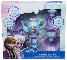 DISNEY FROZEN BUBBLE TEA SET GIRLS DINNER PARTY TOY KIDS PLAY ELSA GIFT PRESENT