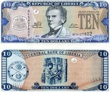 LIBERIA 10 DOLLARS 2011 UNC CONSECUTIVE 20 PCS LOT P 27