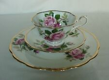 BEAUTIFUL VINTAGE ROYAL ALBERT ANNIVERSARY ROSE CUP SAUCER PLATE SET (A)