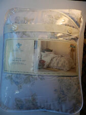 SIMPLY SHABBY CHIC BLUE ROSE FLORAL COMFORTER SHAM TWIN SIZE NWT Rachel Ashwell