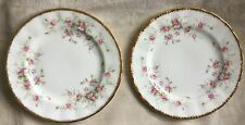 """2 X ROYAL ALBERT PARAGON VICTORIANA ROSE 7"""" PLATES EXCELLENT CONDITION FIRST"""