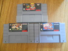 Lot 3 Jeux SNES US / Cartouches seules / Bubsy Soccer Shootout Daffy Duck + étui