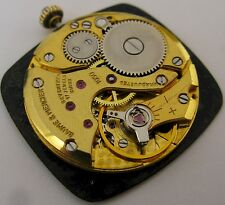 Baume & Mercier 1050 watch movement & dial 17 jewels for parts ...
