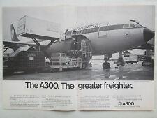 7/1977 PUB AIRBUS INDUSTRIE AIRBUS A300 FREIGHTER LUFTHANSA LSG ORIGINAL AD