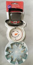 Wilton 3-Piece Christmas Snowman Metal Cookie Cutter Set. Free Shipping!