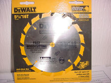DEWALT DW9055  5-3/8-Inch 16 Tooth  10mm Arbor Carbide Circular Saw Blade