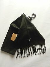 Barbour Plain Seaweed Green Scarf 100% Lambswool