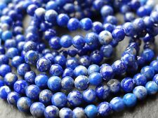 "*CLEARANCE*  2 STRINGS x 3/3.5mm LAPIS ROUNDS, 13.75"" strand, 90 beads"