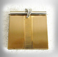 Volupte gold tone metal compact with rhinestone bar closure - FREE SHIPPING