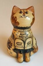 1970 RYE Papier Mache CAT Joan & David de Bethel Weather PROVERB Farming ENGLAND